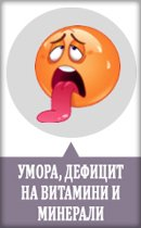 умора и дефицит на витамини и минерали
